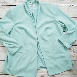 Calvin Klein Mint Aqua Blue Plus Blazer Jacket